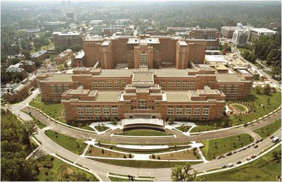 NIH Bethesda Build #10 Clinical Center Aerial