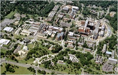 NIH Campus Aerial Photograph